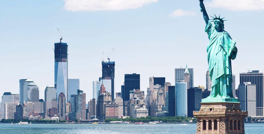 Découvrez le panorama sur New-York du haut de la Statue de la Liberté