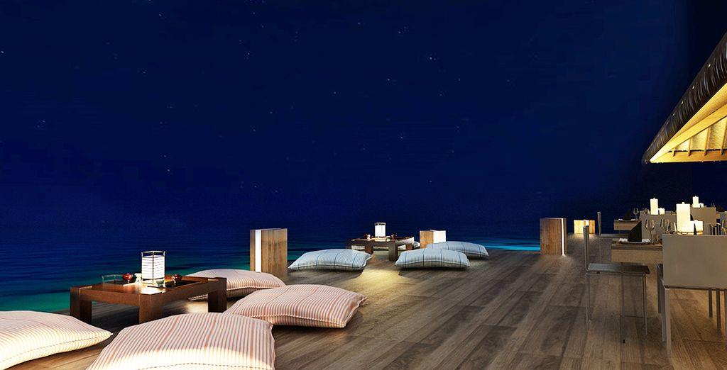Hôtel Cocoon Maldives avec vue sur l'océan et les étoiles