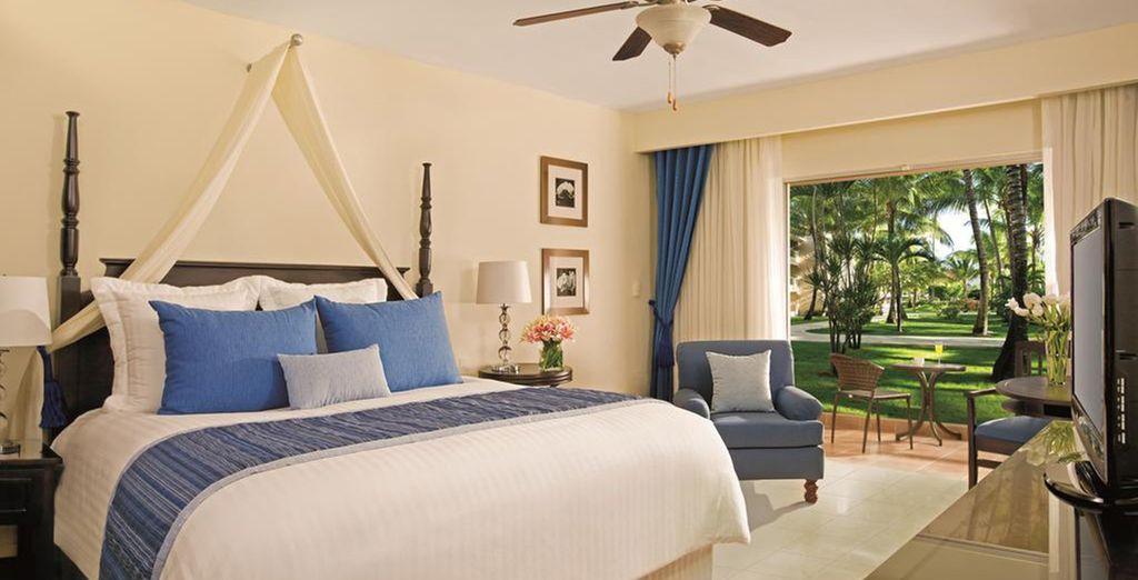 Ou en chambre Premium Deluxe Tropical View, complètement rénovée