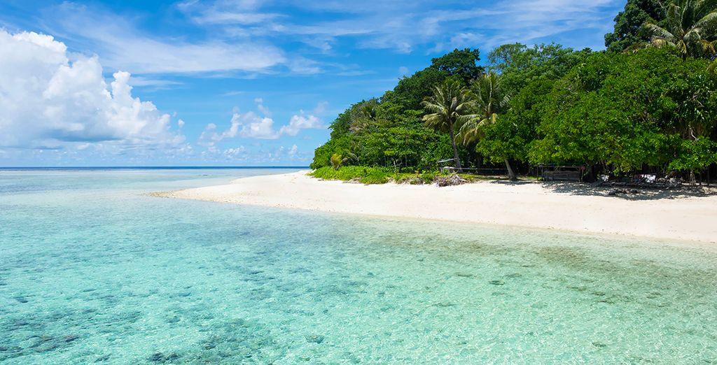 Aux plages de l'île-hôtel de Gaya