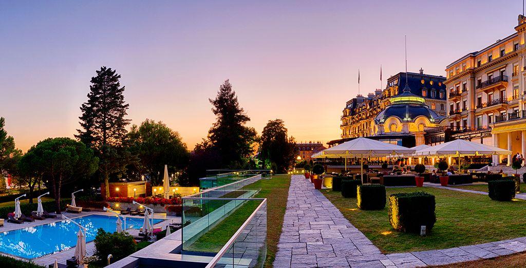 Le Beau-Rivage Palace s'élève depuis 1861 au bord du lac Léman