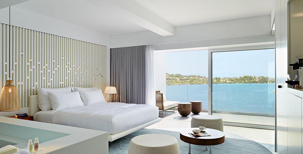Vous découvrirez des chambres à la décoration moderne et élégante