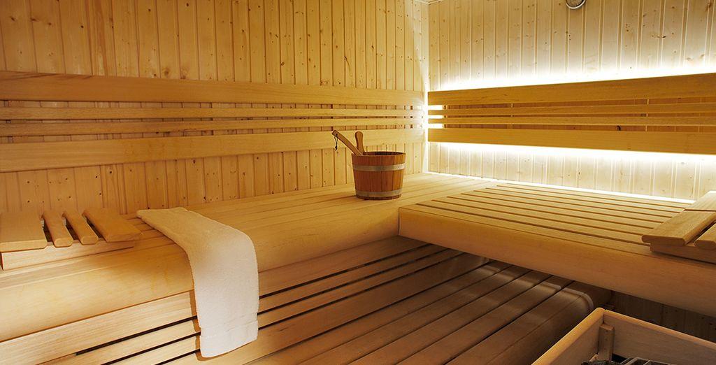 Ou à rejoindre le tout nouveau sauna pour un moment de détente absolue