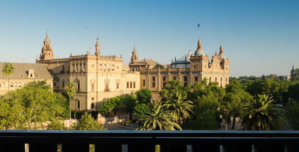 Un hôtel parfaitement situé, avec des vues saisissantes sur les plus beaux monuments de Séville