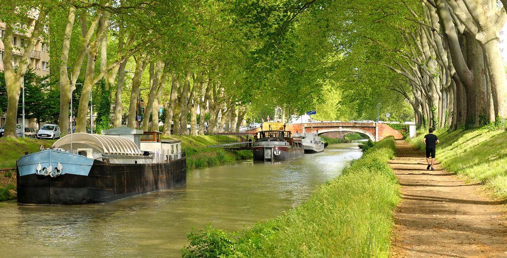 Puis partez à la découverte de Toulouse, le canal du Midi