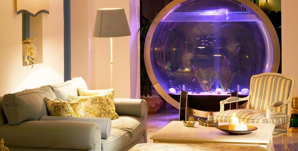 Sa décoration moderne et contemporaine...