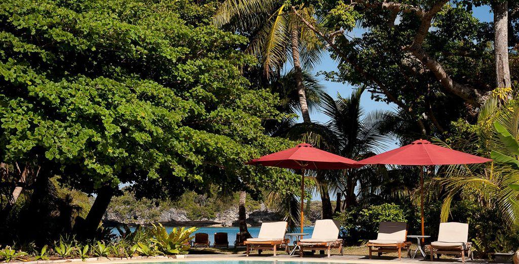 l'hôtel Ouré Tera Beach Resort 4*, niché dans une splendide cocoteraie