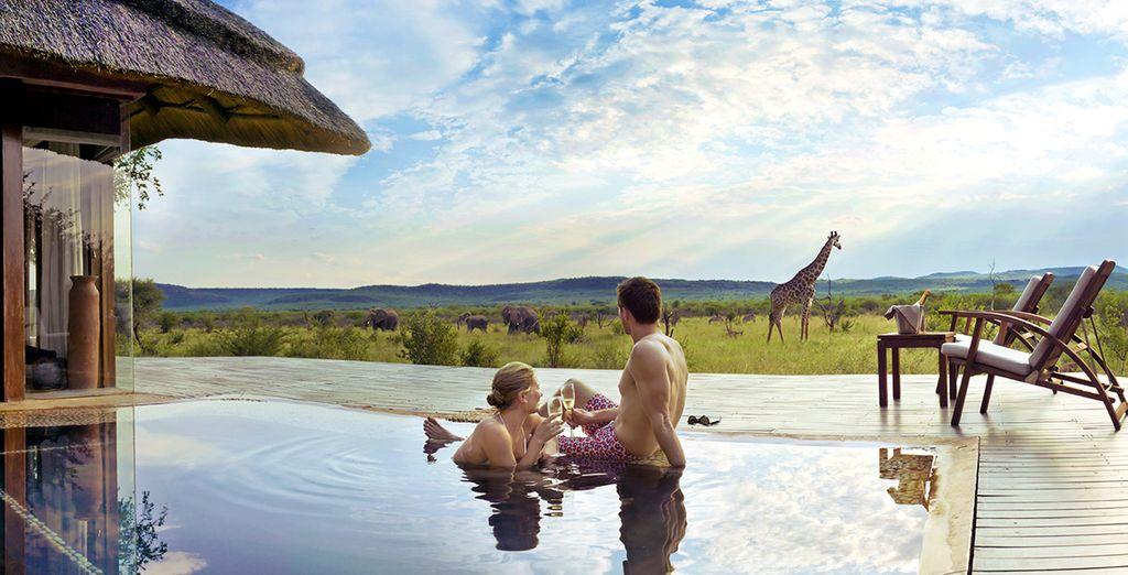 Hôtel de luxe au cœur d'un parc naturel d'Afrique du Sud