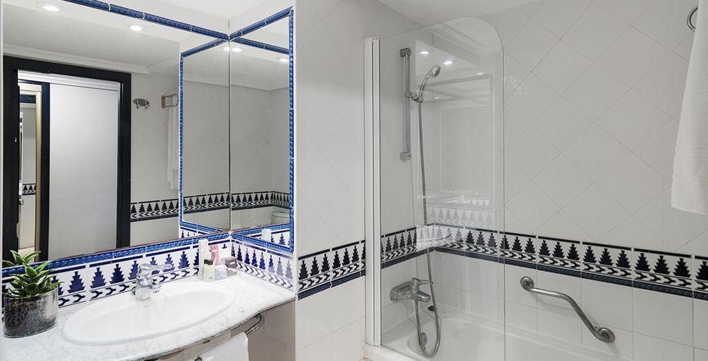 Ainsi que sa salle de bains pour des instants relaxants