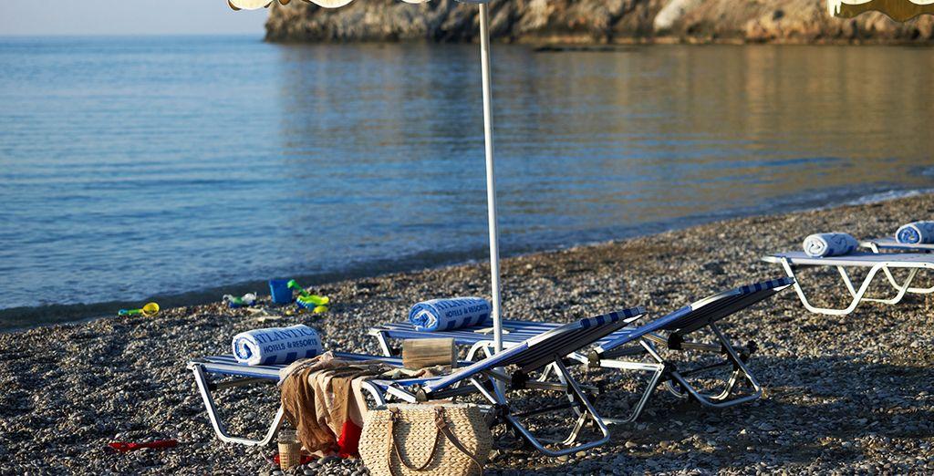 Au programme : farniente sur la plage - Hôtel Atlantica Club Aegean Blue 5* Rhodes