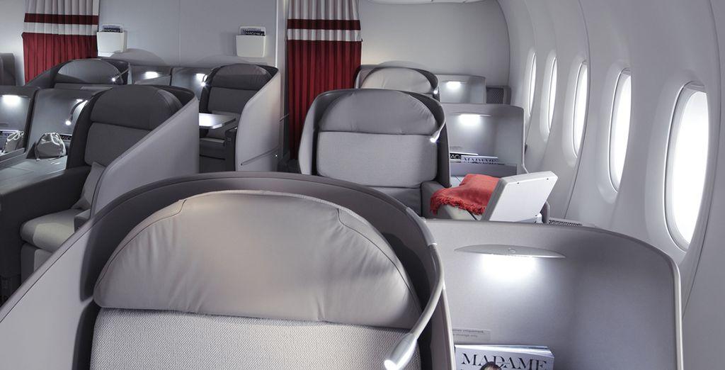 Prenez place dans votre spacieuse et élégante cabine