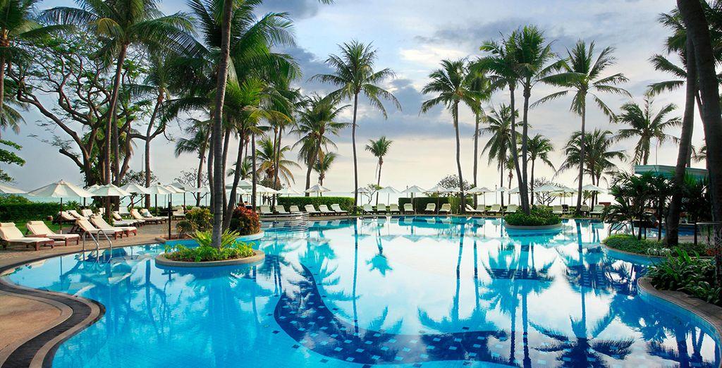 En connaisseur de piscine que vous serez désormais, vous voudrez sûrement faire connaissance avec les 4 autres que l'hôtel comprend...
