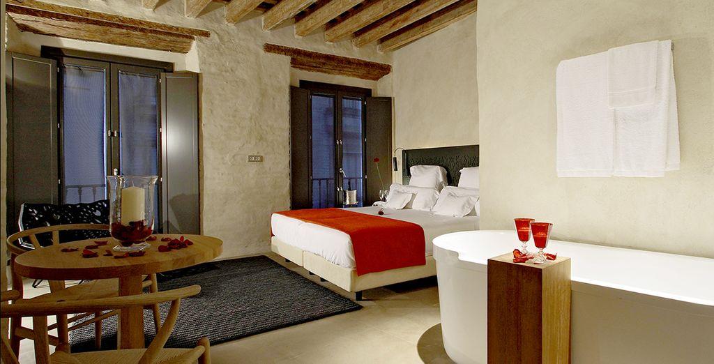 Posez vos valises dans une chambre agréable... Au design contemporain