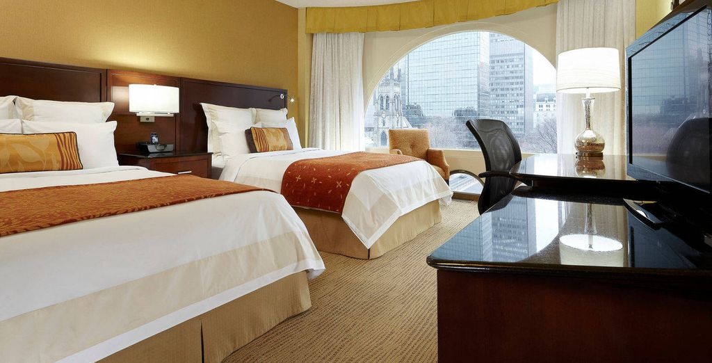 Hôtel Montréal Marriott Château Champlain et séjour possible à New York