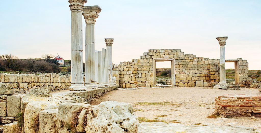Photographie d'un site archéologique en Grèce, près de Rethymnon