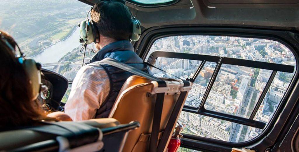 Au départ de l'héliport de Paris