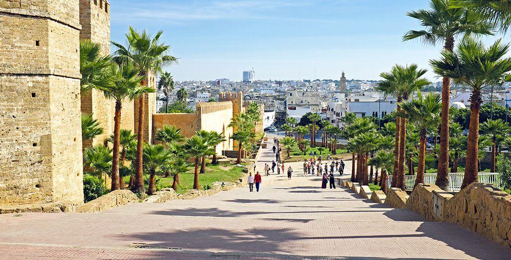 Photographie de la capitale de Rabat au Maroc