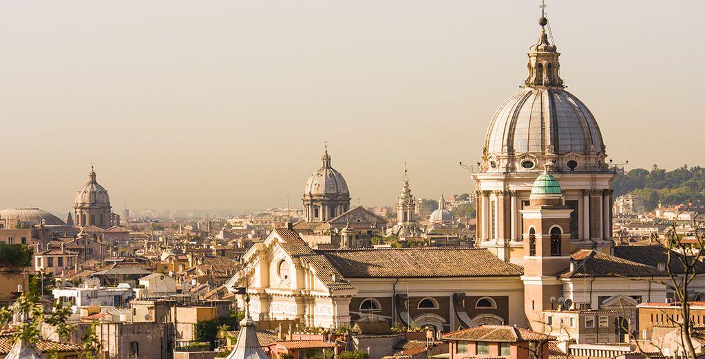 Promesse de votre retour un jour à Rome