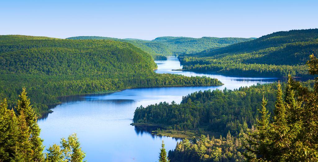 Paysage du Canada lors d'un séjour avec Voyage Privé