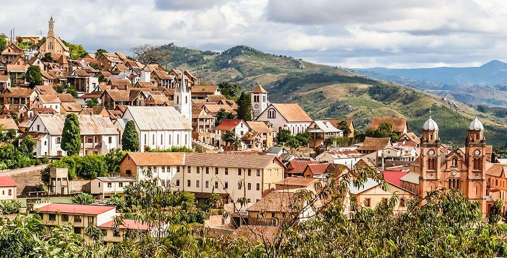 Photographie de la ville de Fianarantsoa, Madagascar