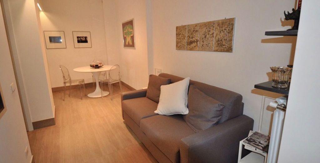 Dans un appartement de 60m2 cosy et confortable - Appartement 1 chambre pour 2 personnes Rome