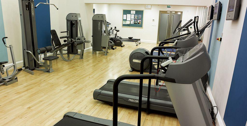 Vous pourrez faire un peu d'exercice au centre de sport...