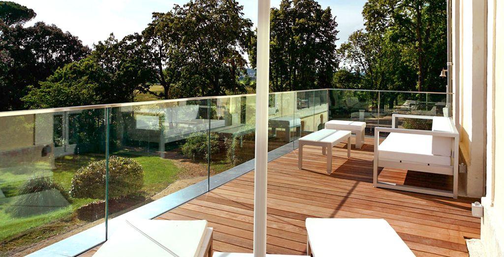 Optez pour la version avec terrasse et vue sur les jardins