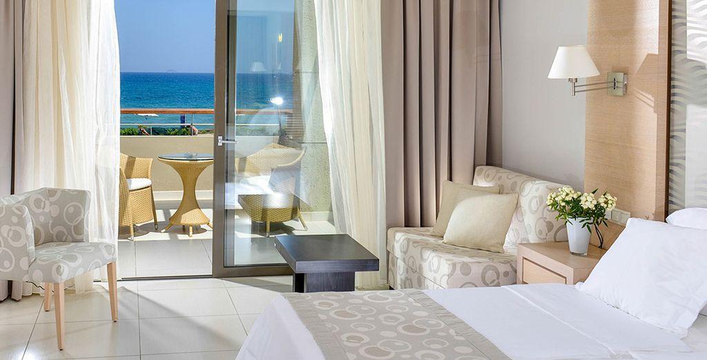 Ou encore en chambre Front de mer, pour ajouter une touche de romance à votre séjour