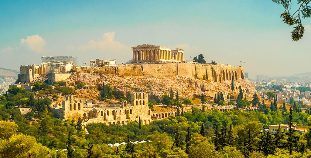 Paysage d'Athènes, la capitale de la Grèce