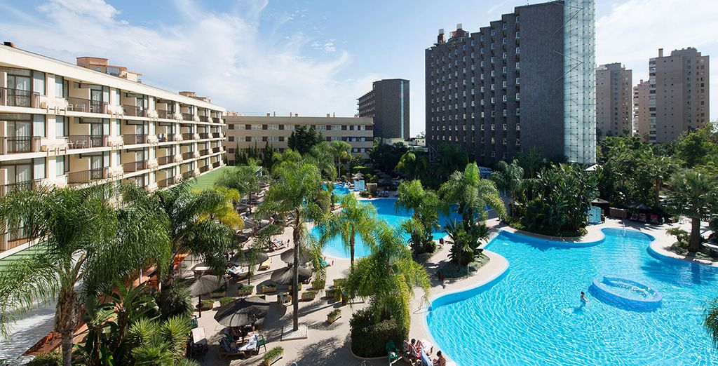 Vous apprécierez la magnifique piscine caribéenne qui borde l'hotel