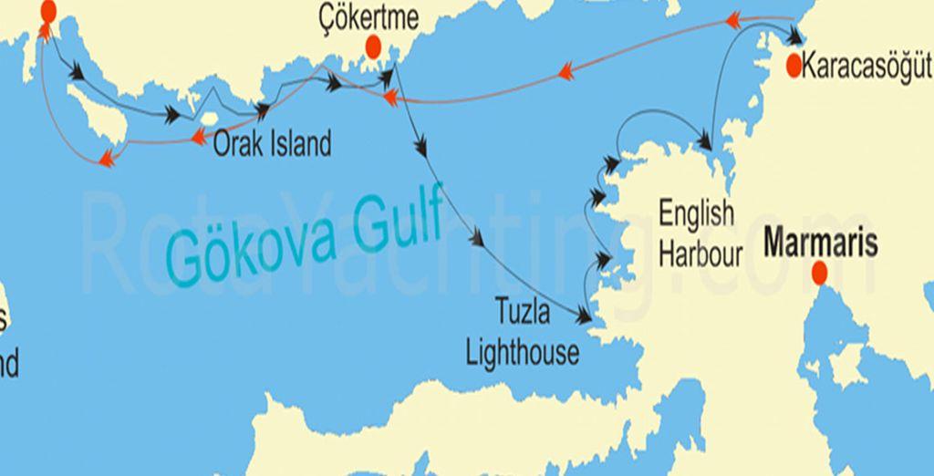 En navigant dans le Golfe de Gövoka