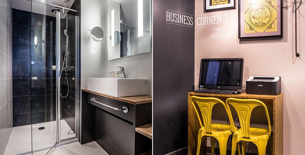 Que se soit votre salle de bain ou le business corner !