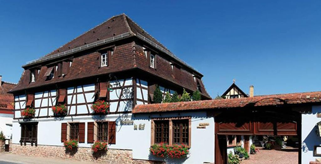 Un lieu à la décoration alsacienne et moderne - Hôtel le Cerf **** Marlenheim
