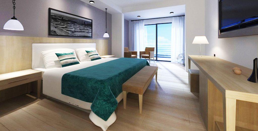 Prenez place dans votre chambre, accueillante et relaxante