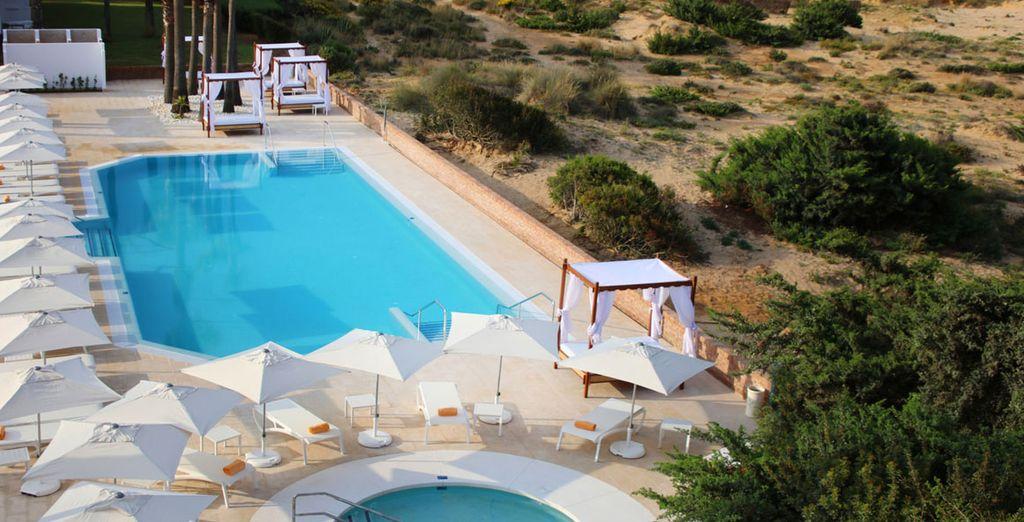 Avec un accès direct à votre piscine partagée