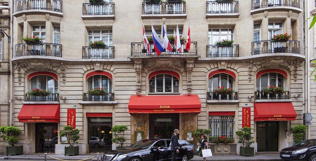 L'hôtel Astor Saint Honoré vous accueille