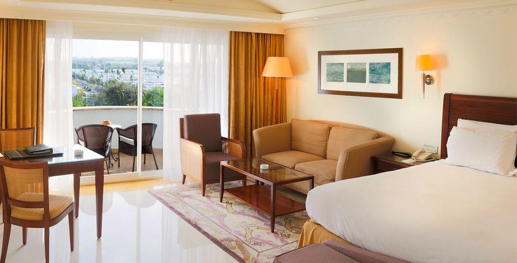 Confortablement installé en chambre Standard Vue Jardin