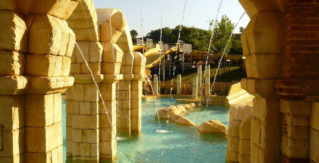 Un parc aquatique de style gallo-romain attenant à votre résidence