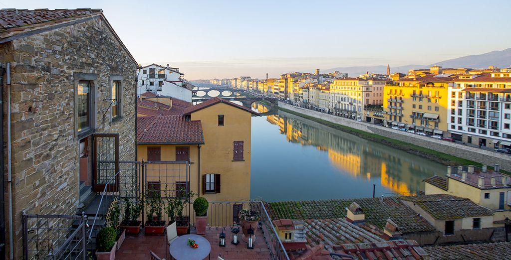 Celles-ci vous offrent une magnifique vue sur le Ponte Vecchio