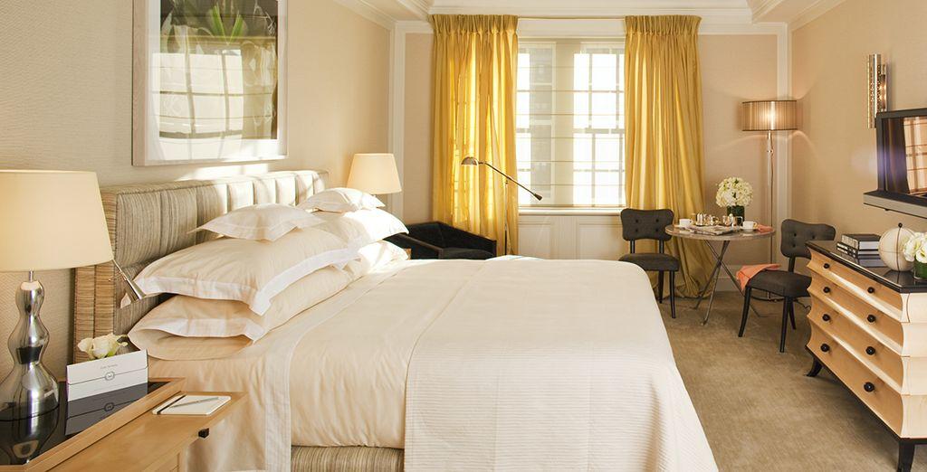 Mais aussi pour vous reposer grâce au confort de votre chambre Superior King Courtyard