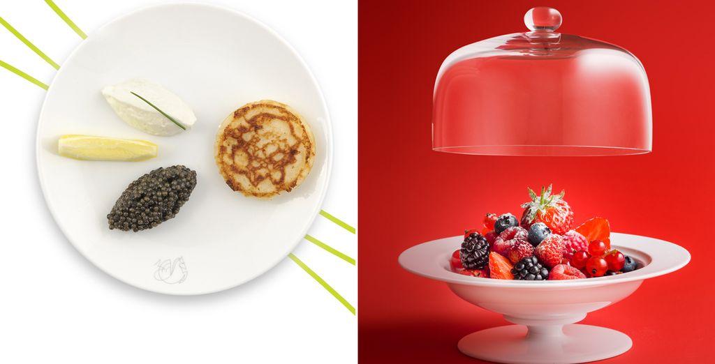 Et dégustez une cuisine gastronomique imaginée par de grands chefs