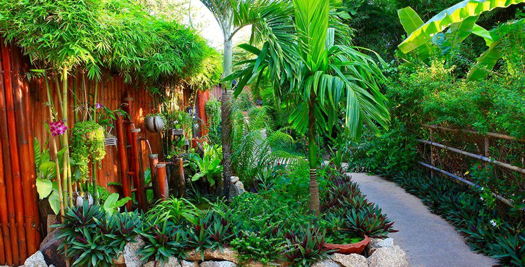 Et qui dispose également de beaux jardins luxuriants
