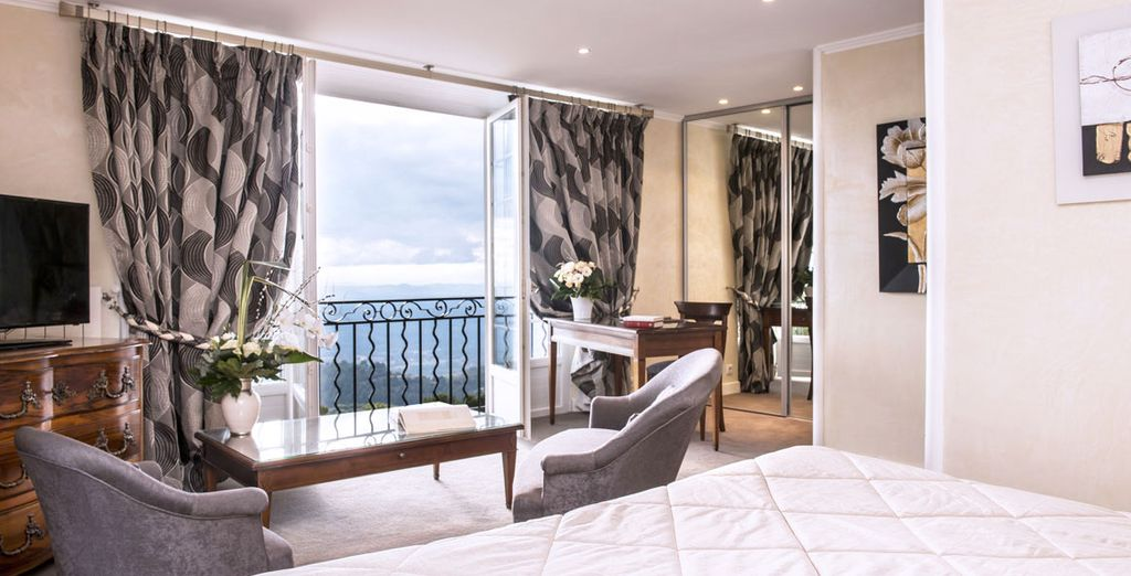 Ou la chambre Prestige et sa vue panoramique !