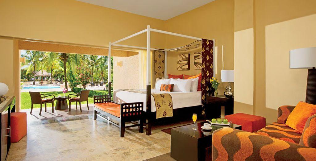 Vous séjournerez en chambre Deluxe Vue Jardin... - Dreams Puerto Aventuras Resort & Spa 5* et Circuit Yucatan Puerto Aventuras