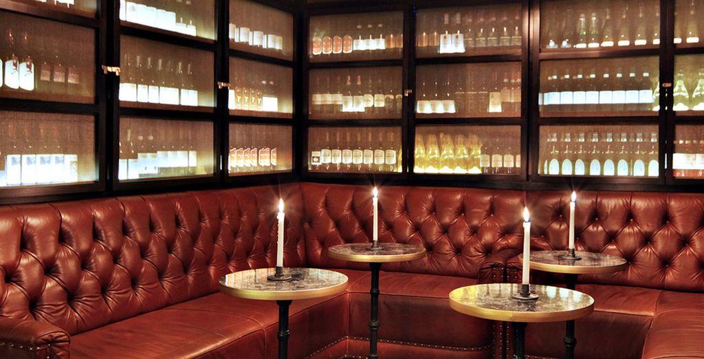 Nell'accogliente wine bar