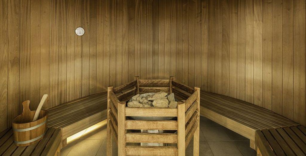 Oltre a una rilassante sauna