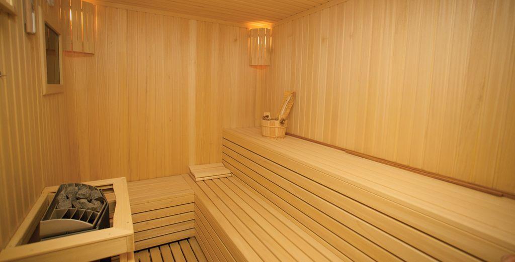 o i numerosi servizi come sauna e palestra