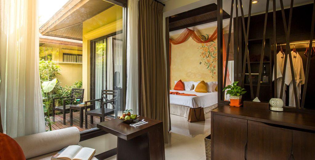 Accomodatevi nella vostra Garden Villa e godetevi una pausa rilassante con gli amici o la famiglia