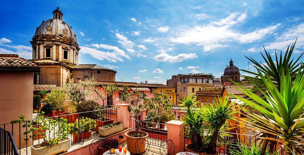 Fotografia della bellissima città di Roma e dei suoi monumenti storici