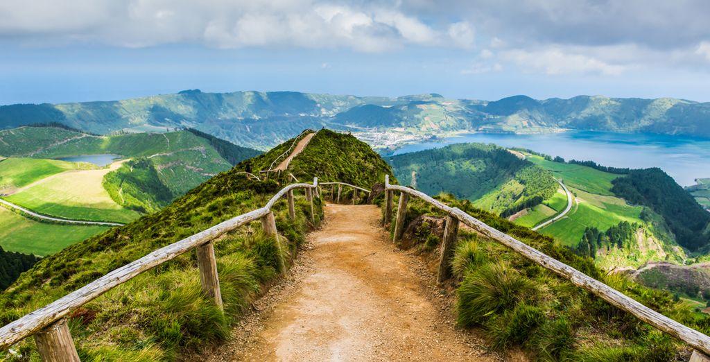 Paesaggio di Ponta Delgada in Portogallo